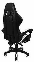 Кресло геймерское Bonro B-810 белое с подставкой для ног, фото 2