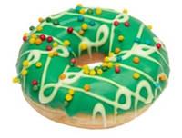 """Пончик «DONUT» """"Різдвяна радість"""" (упакований) 36шт"""
