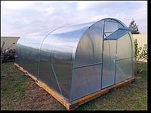 Теплица «Титан» 4х10 из оцинкованной квадратной трубы 1,5 мм с поликарбонатом Soton 4 мм