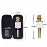 Беспроводной Bluetooth микрофон караоке MicGeek Q7 золотой, фото 3