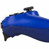Беспроводной геймпад Wireless джойстик для PS4 Bluetooth синий, фото 2