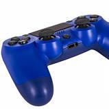 Беспроводной геймпад Wireless джойстик для PS4 Bluetooth синий, фото 3