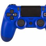 Беспроводной геймпад Wireless джойстик для PS4 Bluetooth синий, фото 4