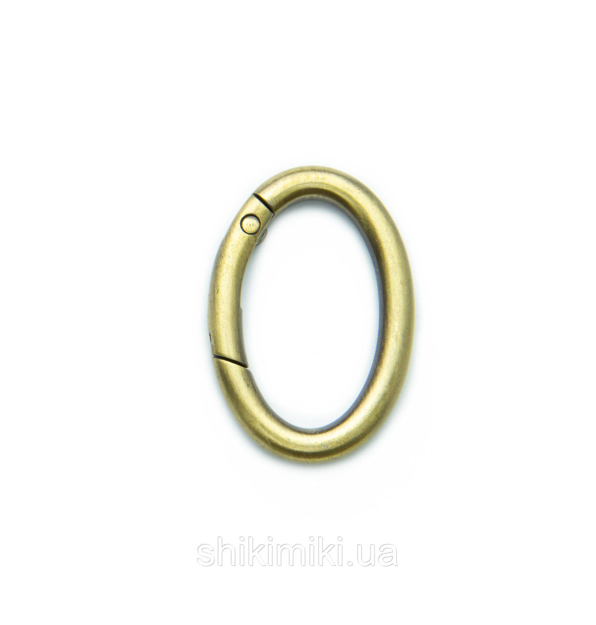 Кольцо-карабин овальное KK1932-4 (32 мм), цвет светлый антик