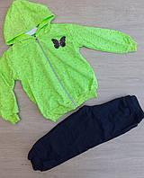 Детский велюровый костюм с шапочкой для девочки 3-9 мес.цвет указывайте при заказе, фото 1