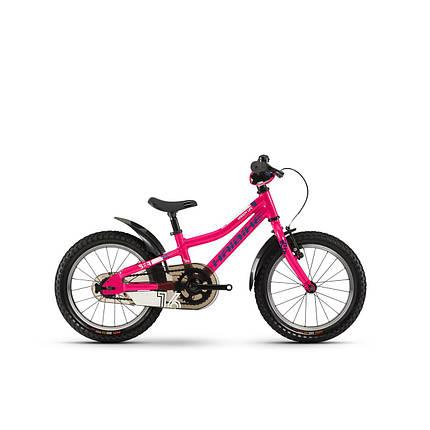 "Велосипед Haibike SEET Greedy 16"", рама 26 см, розовый-голубой-белый, 2020, фото 2"
