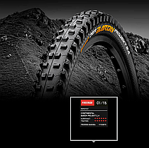 "Покрышка Continental Der Baron Projekt 26""x2.4, Фолдинг, Tubeless, ProTection Apex, Skin, фото 3"