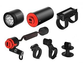 Комплект фара + набор креплений Knog PWR Mountain Kit 2000 Lumens