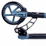 Двухколесный складной самокат Maraton Dynamic с ручным и задним ножным тормозом, Серый, фото 3
