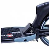 Двухколесный складной самокат Maraton Dynamic с ручным и задним ножным тормозом, Серый, фото 5