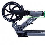 Двухколесный складной самокат Maraton Phonix с ручным и задним ножным тормозом, Серый, фото 5
