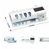 Держатель диспенсер для зубной пасты и щеток автоматический УФ-стерилизатор Toothbrush sterilizer W-020 белый, фото 5