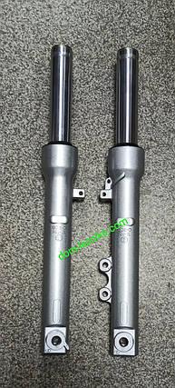Перья вилки для японского скутера, гидравлические под дисковый передний тормоз на Honda Lead AF 48, фото 2