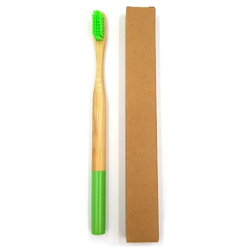 Взрослая зубная щетка из бамбука Круглая 19 см