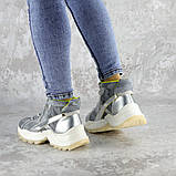 Ботинки женские серебристые Rowan 2395 (36 размер), фото 4
