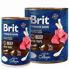 Консервы для собак Brit Premium by Nature Beef with Tripe (говядина с требухой)