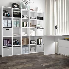 Стелаж для дому, полиця для книг і іграшок, роздільник кімнати на 25 клітинок, книжкова шафа S-16