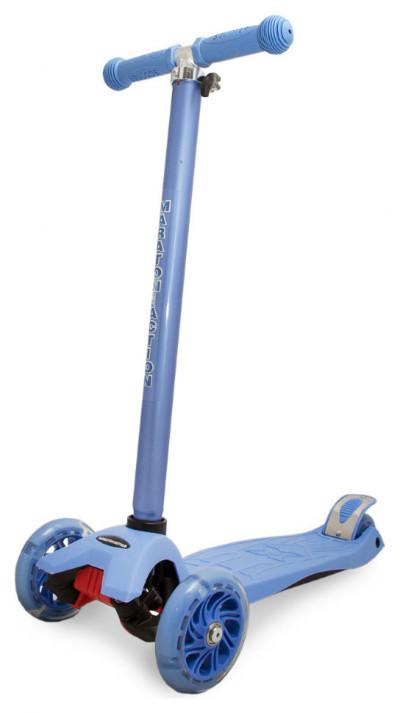 Детский трехколесный самокат Maraton Action с ножным задним тормозом, Синий
