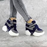 Женские кроссовки на танкетке синие Shadow 2331 (36 размер), фото 2