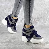 Женские кроссовки на танкетке синие Shadow 2331 (36 размер), фото 4