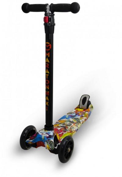 Детский трехколесный самокат Maraton Maxi-B с ножным задним тормозом, Пакемон