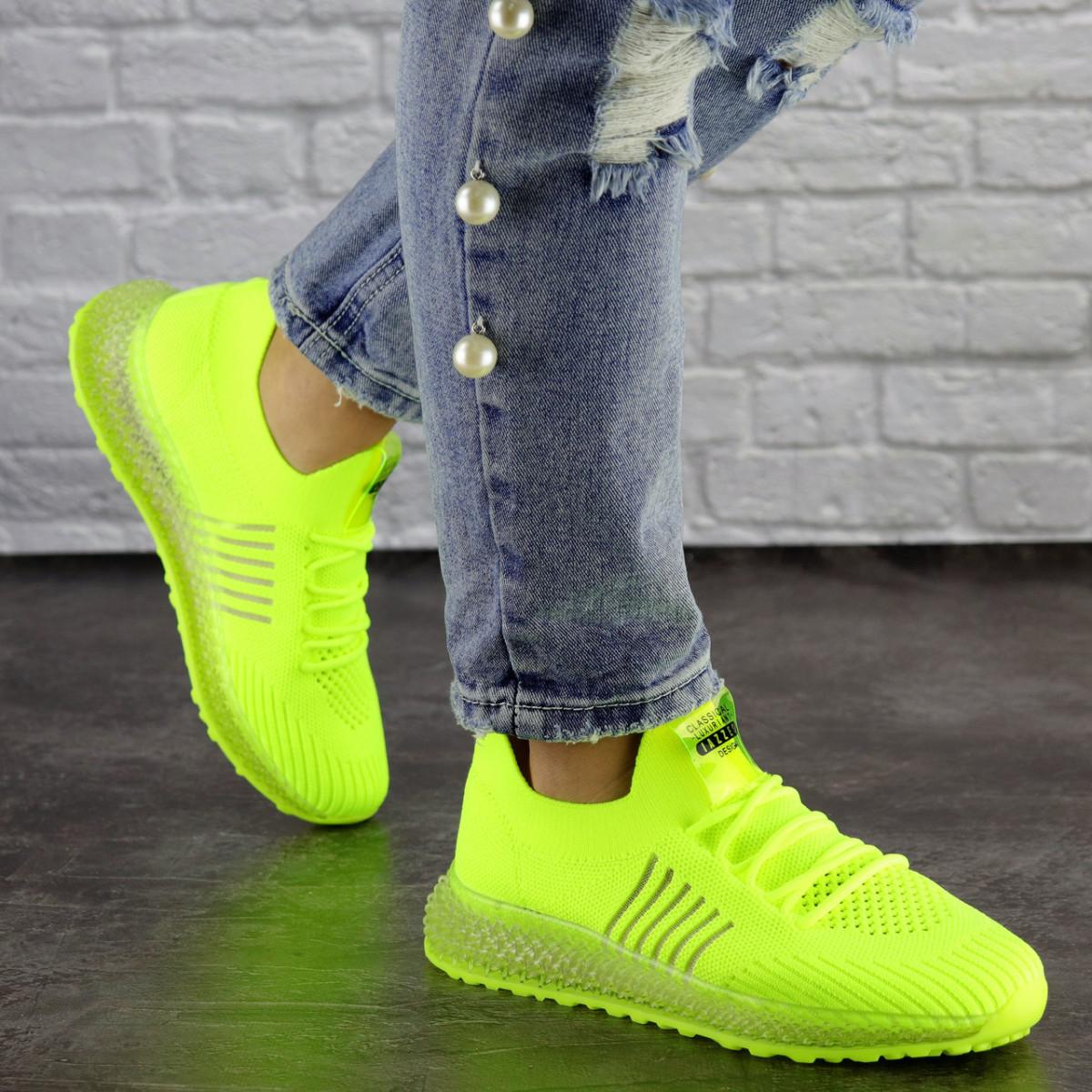 Женские кроссовки салатовые Neon 1473 (39 размер)