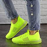 Женские кроссовки салатовые Neon 1473 (39 размер), фото 2