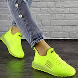 Женские кроссовки салатовые Neon 1473 (39 размер), фото 4