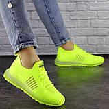 Женские кроссовки салатовые Neon 1473 (39 размер), фото 5