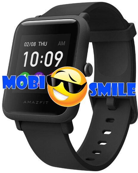 Часы Smart watch Xiaomi Amazfit Bip S Lite Black UA UCRF Гарантия 12 месяцев