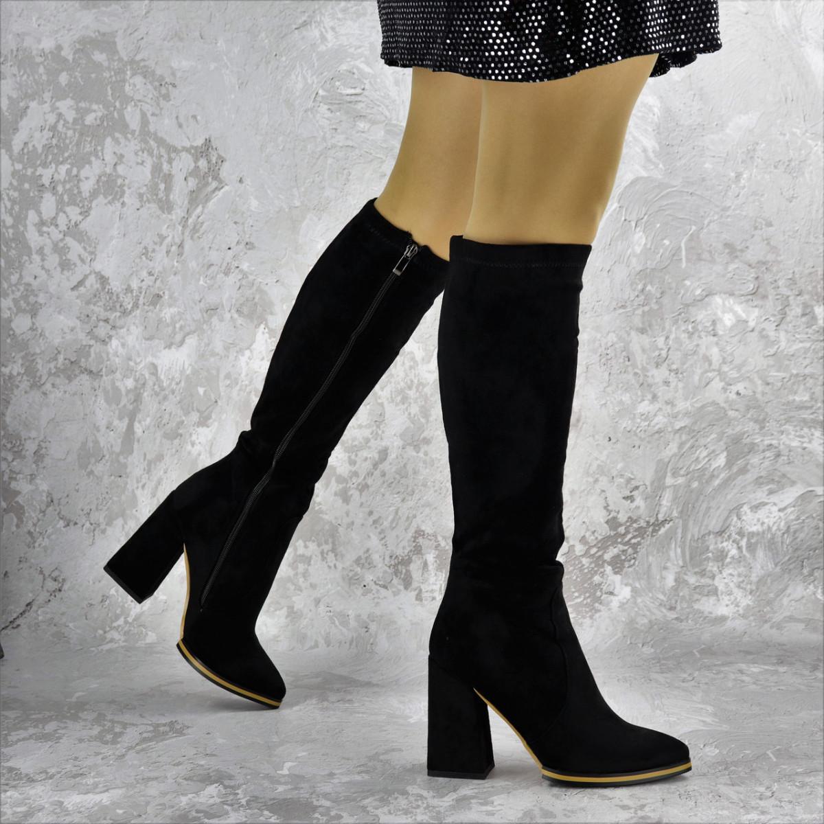 Сапоги женские черные Rugbe 2168 (38 размер)