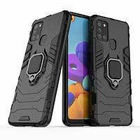 Чехол Ring Armor для Samsung A217 Galaxy A21s Black