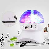 Диско-шар на аккумуляторе Charging crystal magic ball Bluetooth RD-5035 White, фото 8