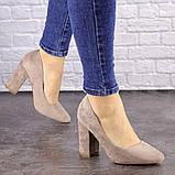 Туфли женские Nutella бежевые на каблуках 1471 (37 размер), фото 2