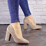 Туфли женские Nutella бежевые на каблуках 1471 (37 размер), фото 4