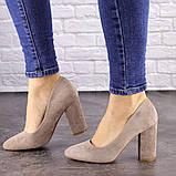 Туфли женские Nutella бежевые на каблуках 1471 (37 размер), фото 5
