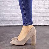 Туфли женские Nutella бежевые на каблуках 1471 (37 размер), фото 7
