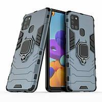 Чехол Ring Armor для Samsung A217 Galaxy A21s Blue