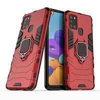 Чехол Ring Armor для Samsung A217 Galaxy A21s Red