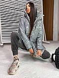 Женская  теплая рефлективная куртка  с капюшоном светодиодная, фото 2