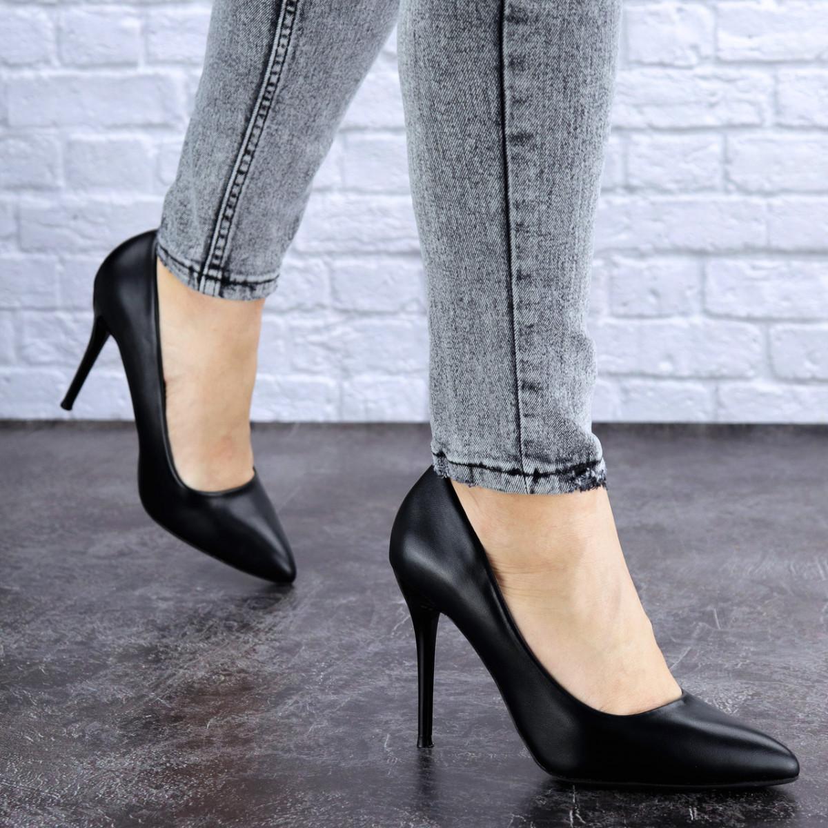Туфли женские лодочки на шпильке черные Margo 1721 (37 размер)