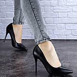 Туфли женские лодочки на шпильке черные Margo 1721 (37 размер), фото 2