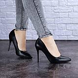 Туфли женские лодочки на шпильке черные Margo 1721 (37 размер), фото 5