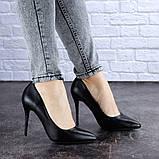 Туфли женские лодочки на шпильке черные Margo 1721 (37 размер), фото 6