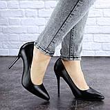 Туфли женские лодочки на шпильке черные Margo 1721 (37 размер), фото 7