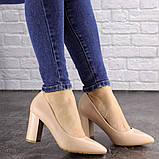Туфли женские на каблуке бежевые Brandy 1626 (37 размер), фото 6