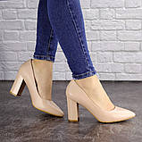 Туфли женские на каблуке бежевые Brandy 1626 (37 размер), фото 7