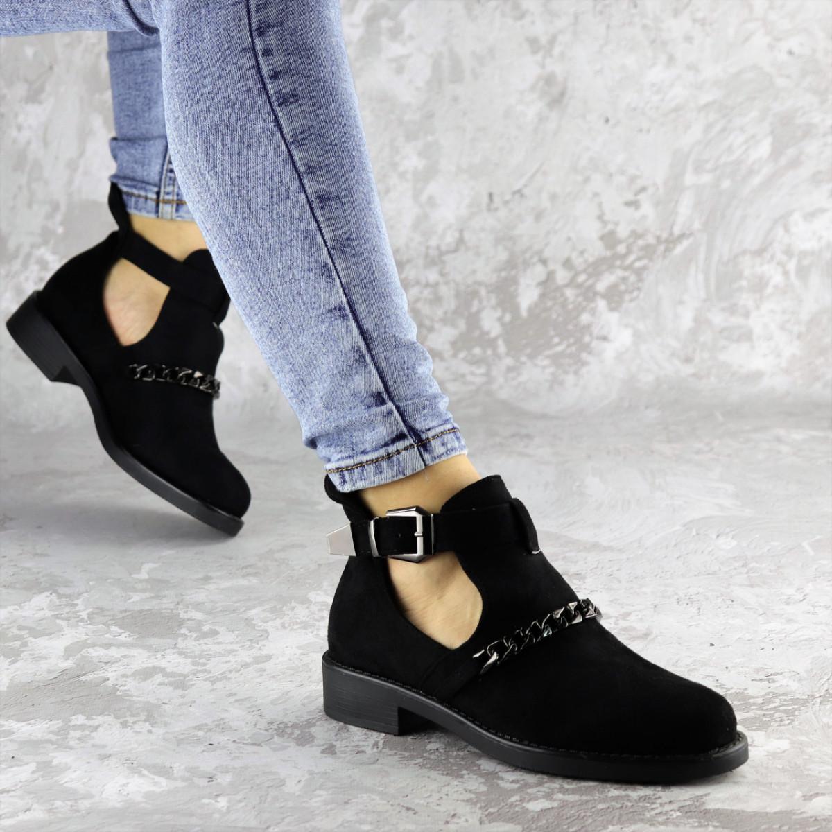 Ботиночки женские черные Jean 1261 (36 размер)