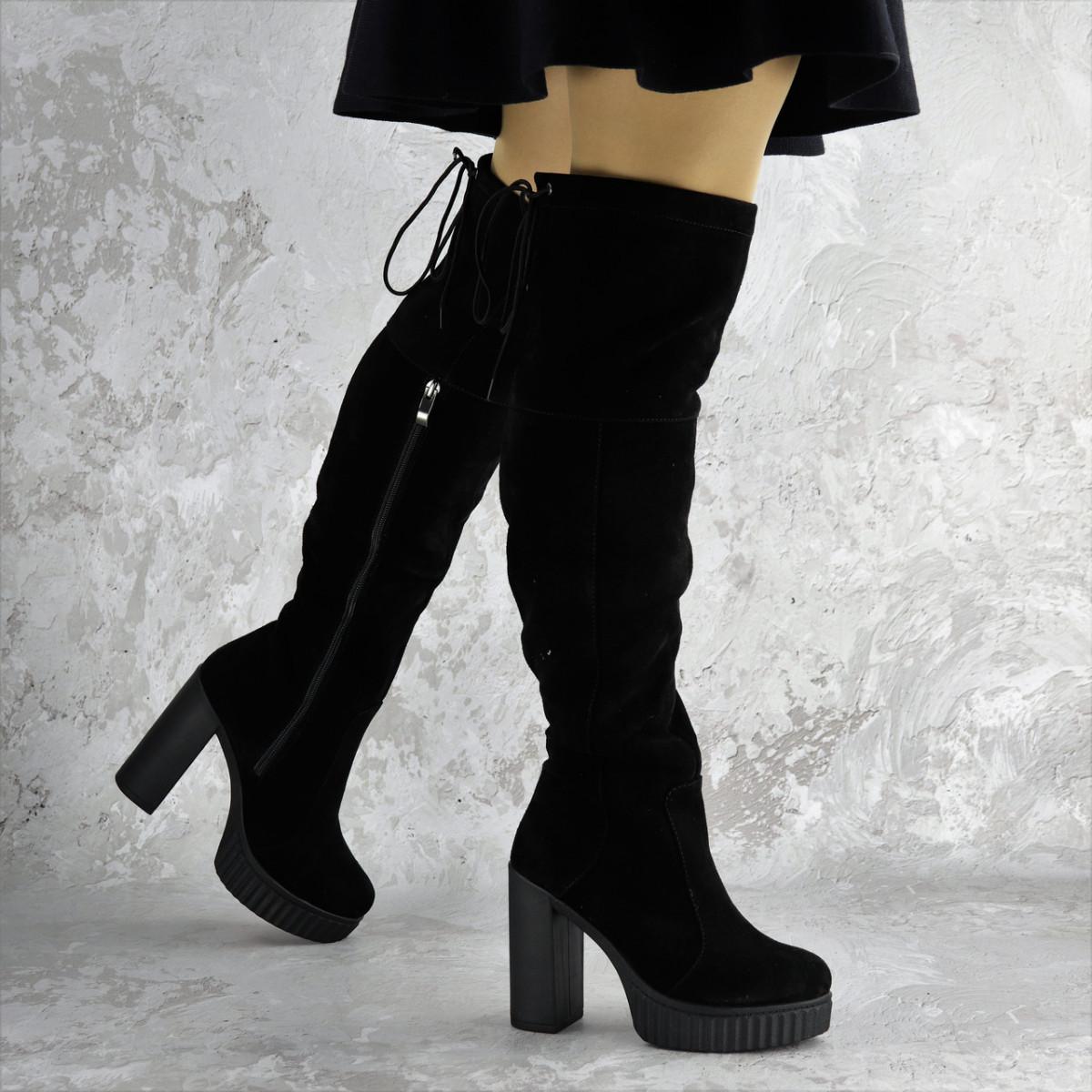 Ботфорты женские черные Brier 2335 (36 размер)