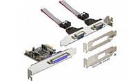Перехідник Delock PCI Express 2x COM, 1x LPT (89129)